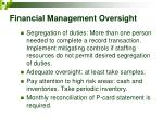 financial management oversight