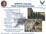 afrotc courses field training overview