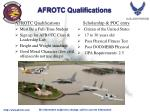 afrotc qualifications