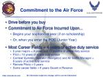 commitment to the air force