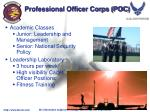 professional officer corps poc