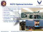 rotc optional activities