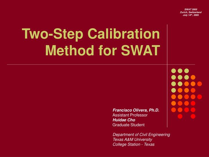 two step calibration method for swat n.