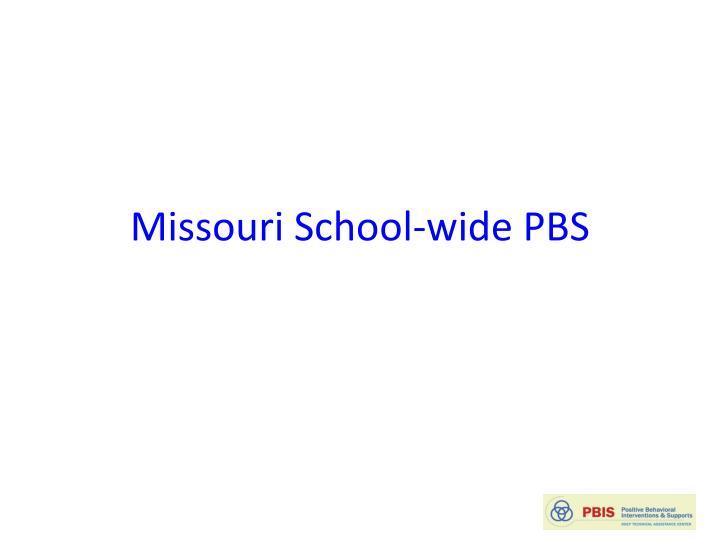 Missouri School-wide PBS
