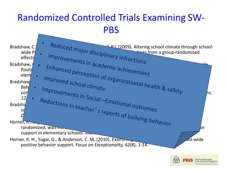 Randomized Controlled Trials Examining
