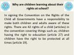 why are children learning about their rights at school