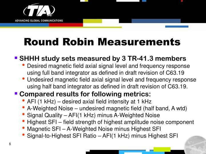Round Robin Measurements