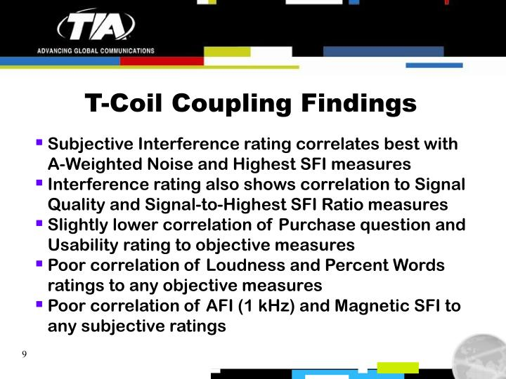 T-Coil Coupling Findings
