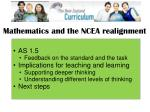 mathematics and the ncea realignment