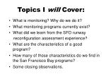 topics i will cover