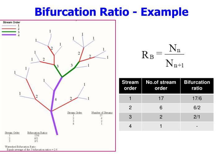 Bifurcation Ratio - Example