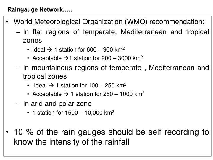 Raingauge Network…..