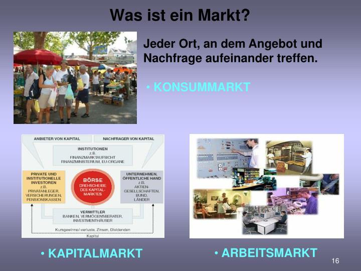Was ist ein Markt?