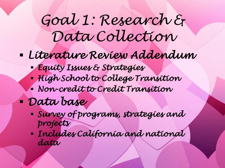 Goal 1: Research & Data Collection