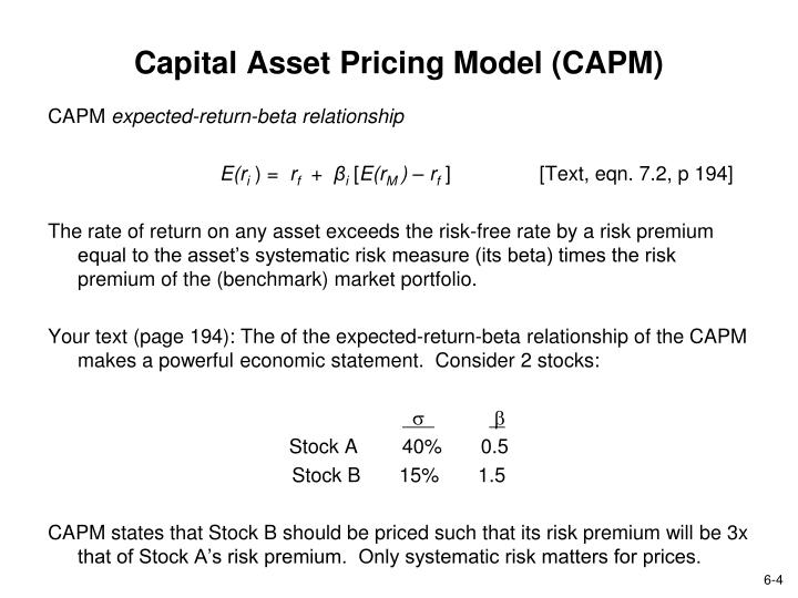 capital asset pricing model and answer Eurasian journal of business and economics 2010, 3 (6), 127-138 testing capital asset pricing model: empirical evidences from indian equity market.