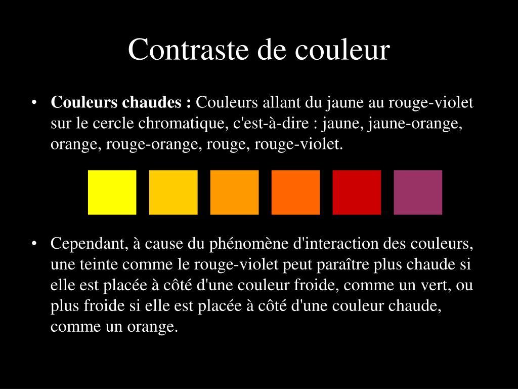 PPT - Exercice sur les couleurs chaudes et froides PowerPoint ...