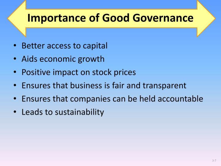 Importance of Good Governance