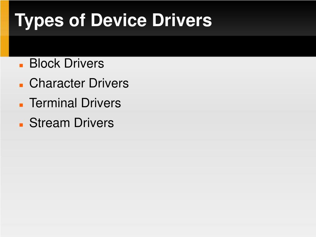 PPT - Device Drivers PowerPoint Presentation - ID:5659159