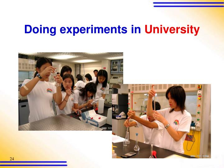 Doing experiments in