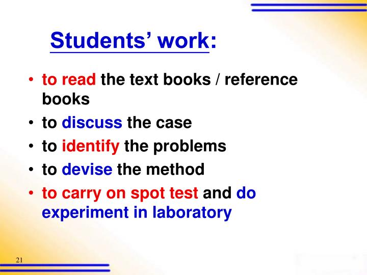 Students' work