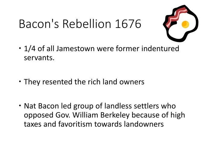 Bacon's Rebellion 1676