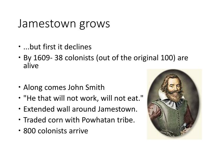 Jamestown grows
