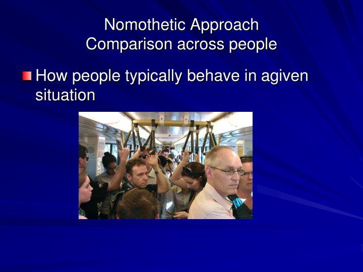 Nomothetic Approach