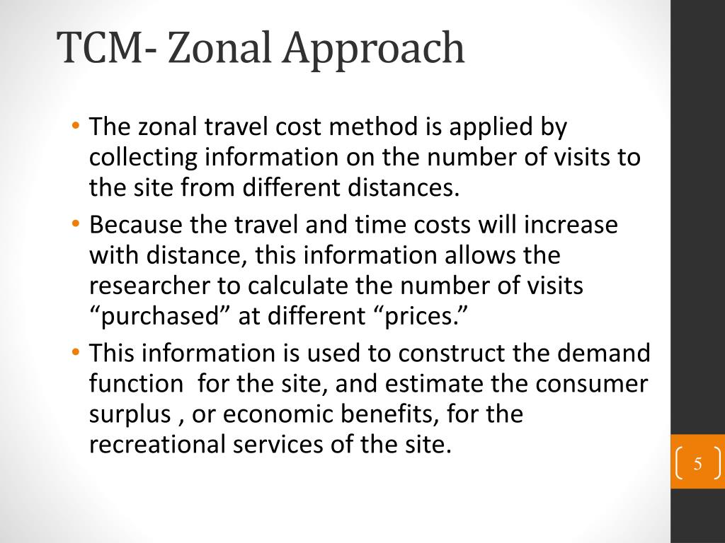 PPT - Travel Cost Method (TCM) PowerPoint Presentation - ID