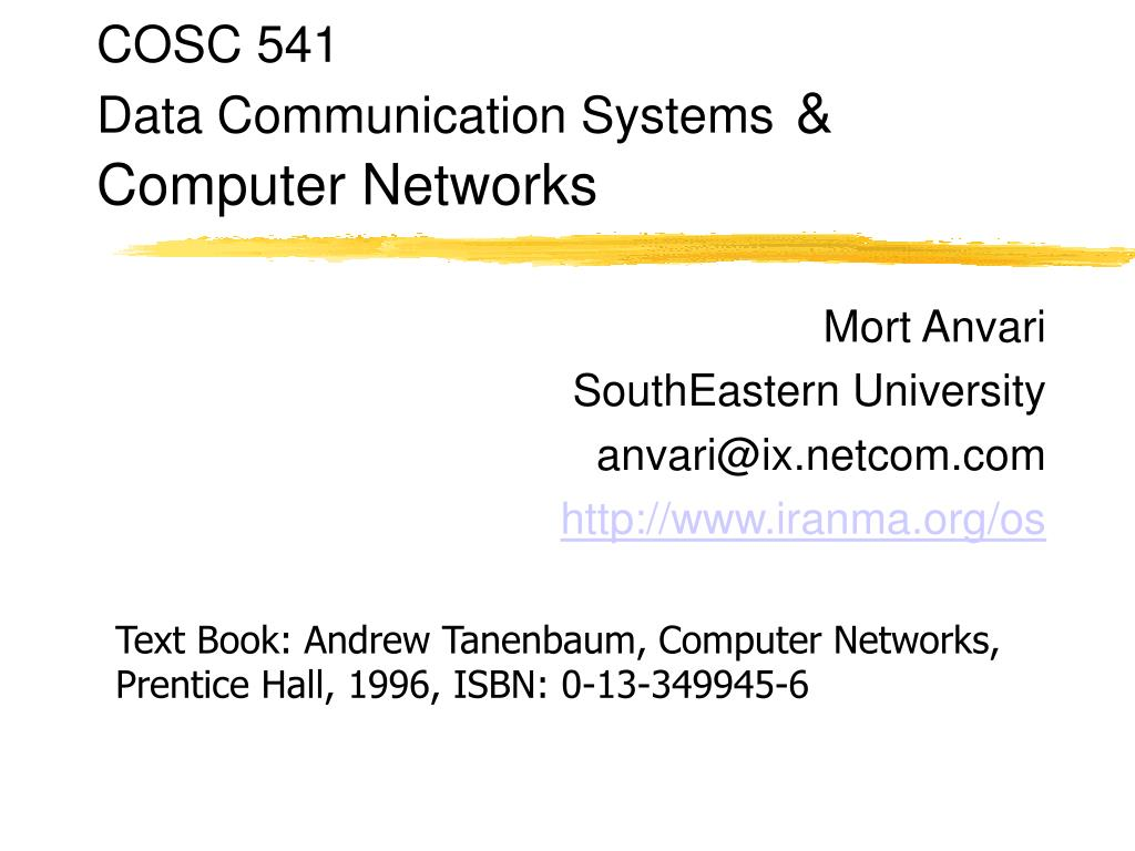 Data Communication And Computer Networking Ppt idea gallery