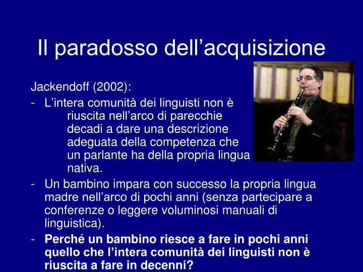 Il paradosso dell acquisizione