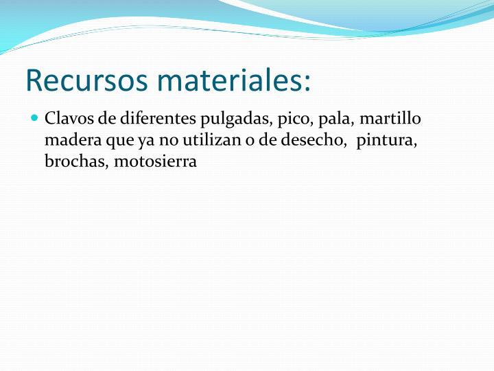 Recursos materiales: