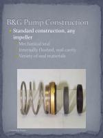 b g pump construction