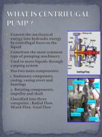what is centrifugal pump