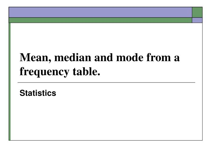 how to find the mode in a frequency table