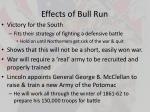 effects of bull run