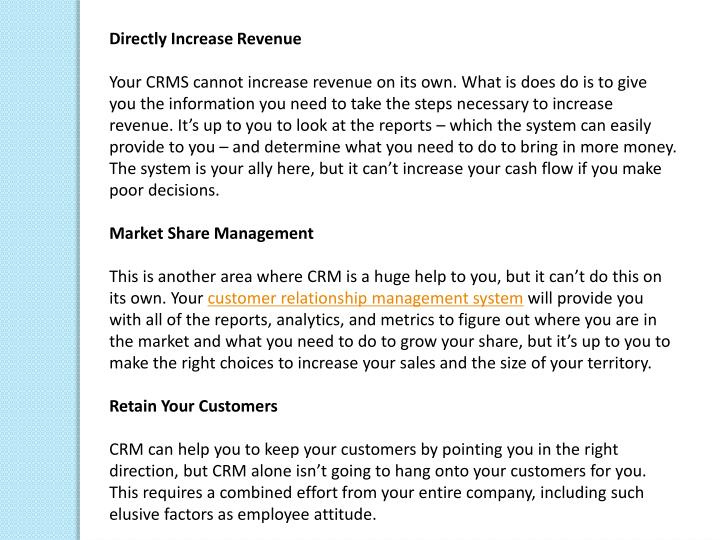 Directly Increase Revenue
