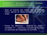 atividade 4 7 conceito de curr culo e o processo de integra o de tecnologias no curr culo