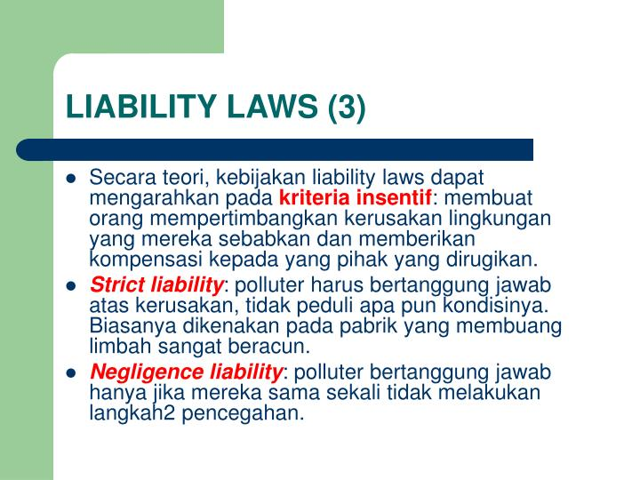 LIABILITY LAWS (3)