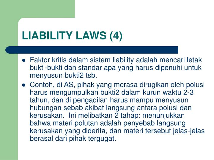 LIABILITY LAWS (4)