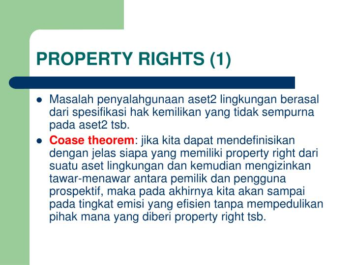PROPERTY RIGHTS (1)