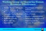 working group on measuring human resources effectiveness