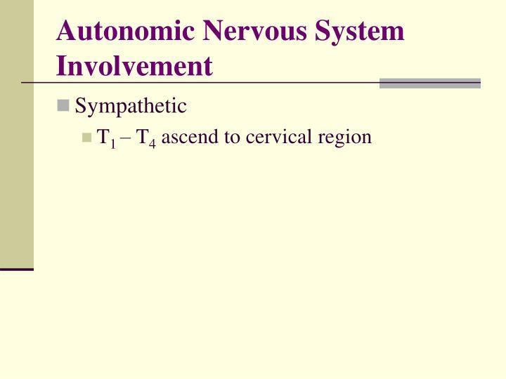 Autonomic Nervous System Involvement