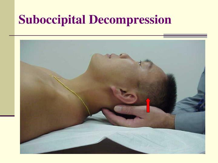 Suboccipital Decompression