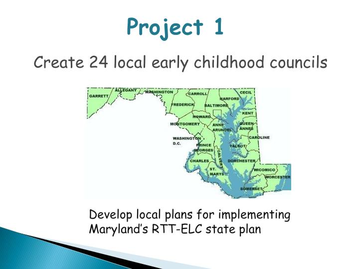 Develop local plans for implementing maryland s rtt elc state plan
