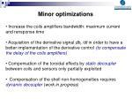 minor optimizations
