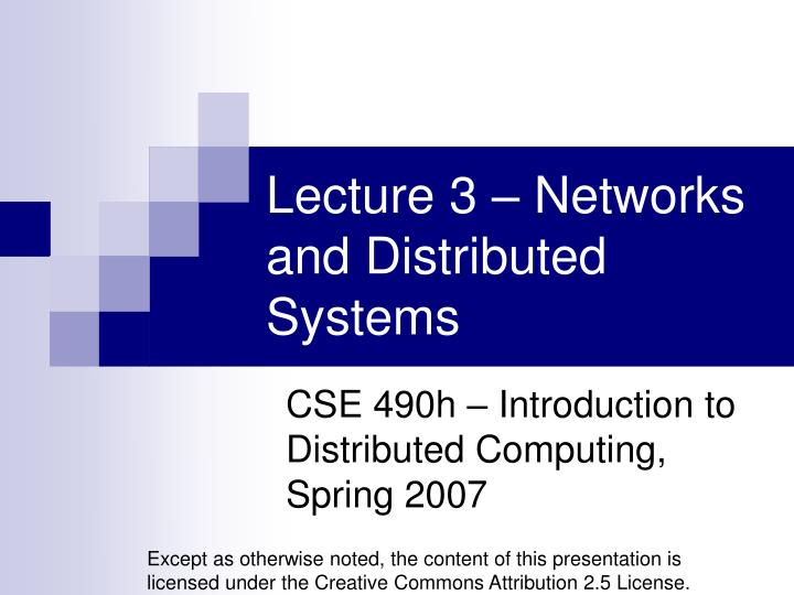 lecture 3 networks and distributed systems n.