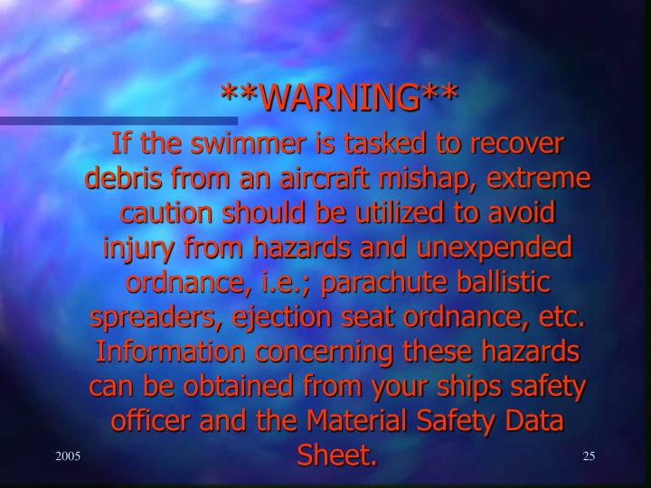 **WARNING**