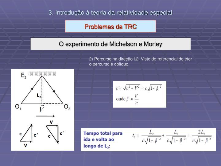 3. Introdução à teoria da relatividade especial