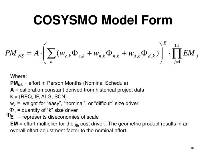 COSYSMO Model Form