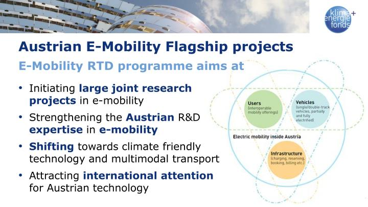 Austrian E-Mobility Flagship projects